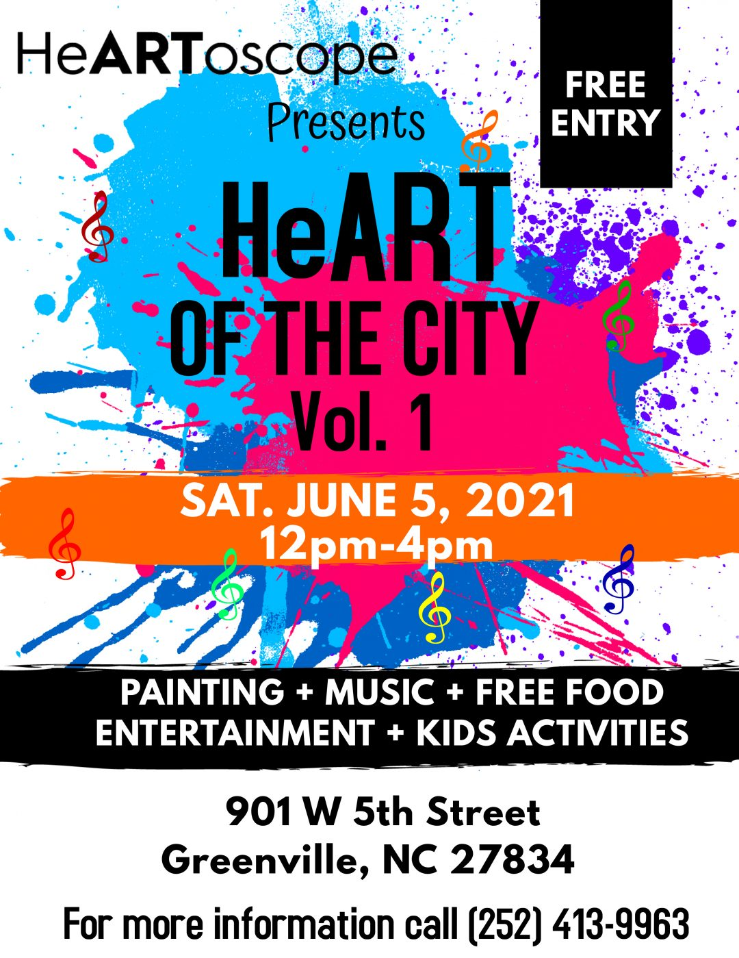 Heart of the city flyer. Sat June 5th, 2021